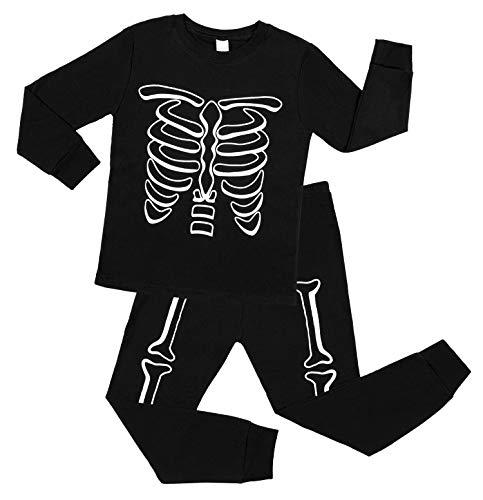 Vegatos Boys Halloween Pajamas Toddler Cotton Skeleton Pjs