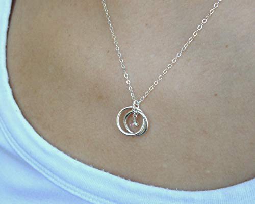 EFYTAL 21st Birthday Gifts Her Sterling Silver 21 Year Old Necklace Gift Women Best