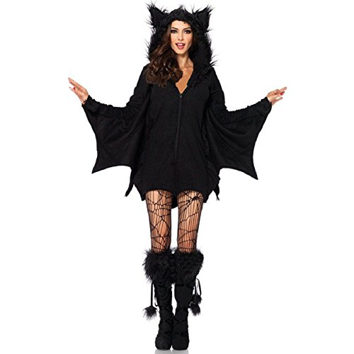 [Herebuy8 Women's Sexy Halloween Cozy Vampire Bat Costume (M)] (Count Gothic Costumes)
