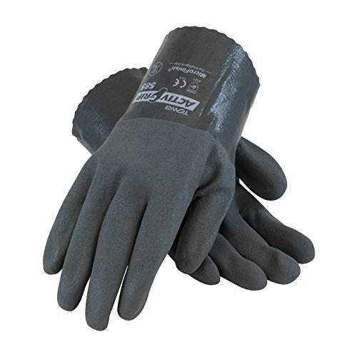 Walter Cotton Gloves (ActivGrip 56-AG585/XL Nitrile Coated Glove with Cotton Liner and Micro Finish Grip,)