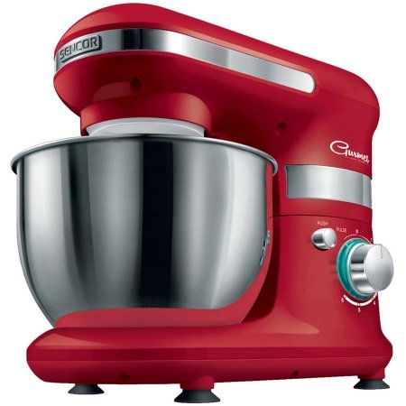 Sencor 4.2qt Planetary Stand Mixer | Anti-Slip Feet with Suction Cups - (Red) by SENCOR