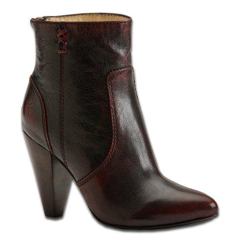 FRYE Women's Regina High Heel Bootie, Burnt Red, 6 M US