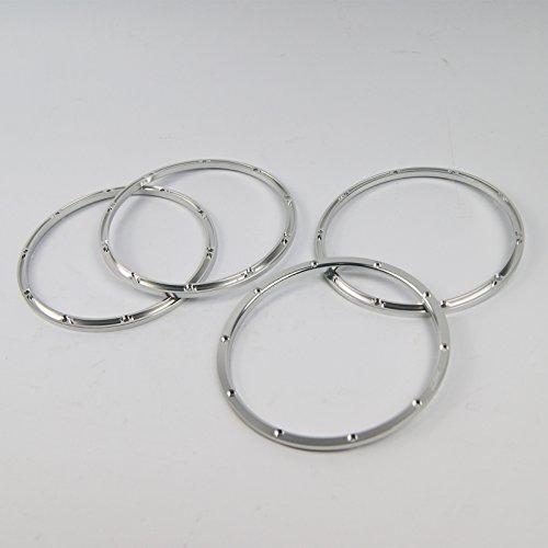 4pcs Silver KM Aluminium Alloy beadlock (inside) Wheel rim for Rovan HPI Baja 5B (Hpi Rim)