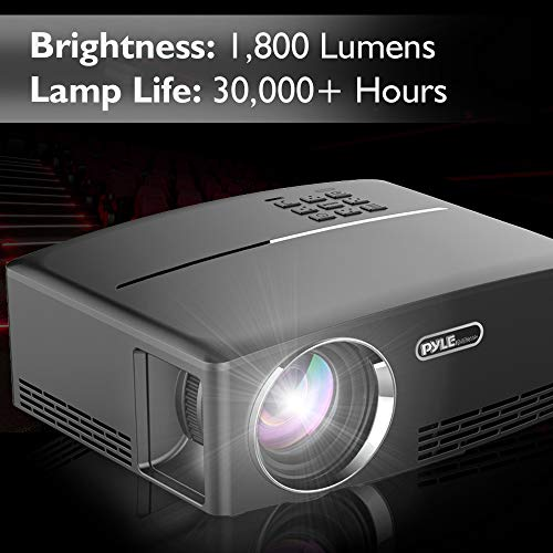 Digital Multimedia Home Theater Projector - HD 1080p Portable Digital Data System Projection w/LED, USB, HDMI Entertainment Video Photo Game Full Cinema Movie in Your Laptop - Pyle by Pyle (Image #5)