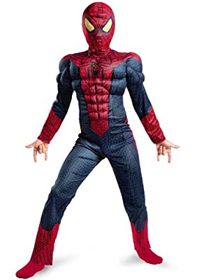 The Amazing Spider-man Movie Muscle Light Up Costume Redblue Small from Disguise Costumes