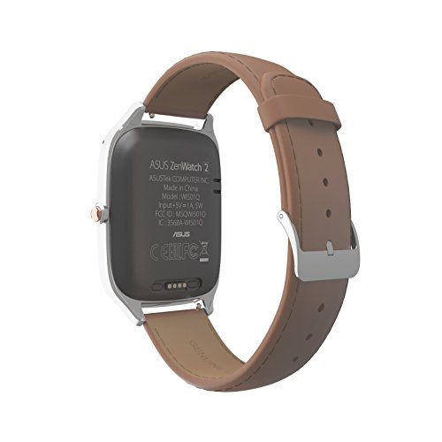 ASUS ZenWatch 2 Silver with Camel Leather Strap 41mm Smart ...