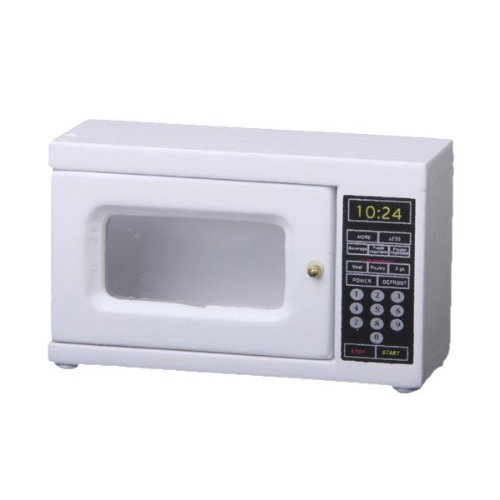 SODIAL(R) Microwave 1: 12 Scale miniature for doll house (white)