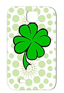 TPU Four Leaf Clover St. Patrick's Day Holidays Occasions Green Skid-proof Protective Hard Case For Sumsang Galaxy S4