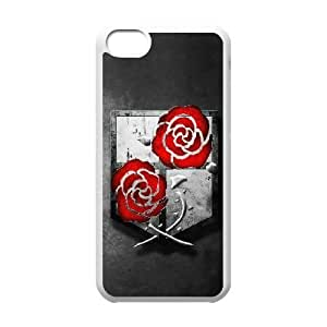 Unique Design Cases Ipod Touch 6 Cell Phone Case White Attack on Titan Ooown Printed Cover Protector