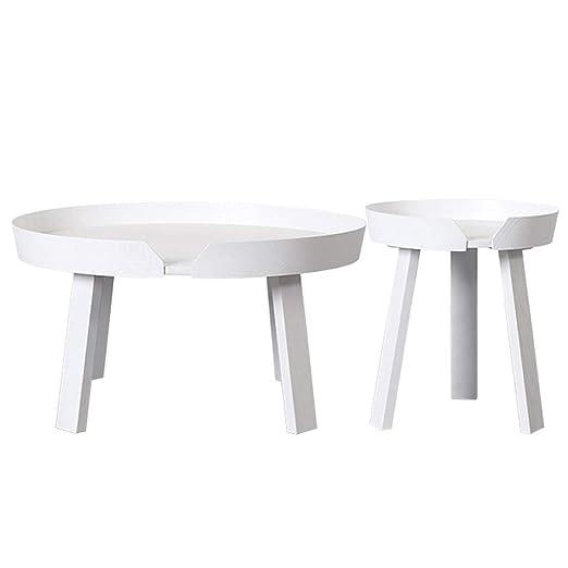 Xu-table Mesa Redonda de Madera de combinación, Sofá Postre ...