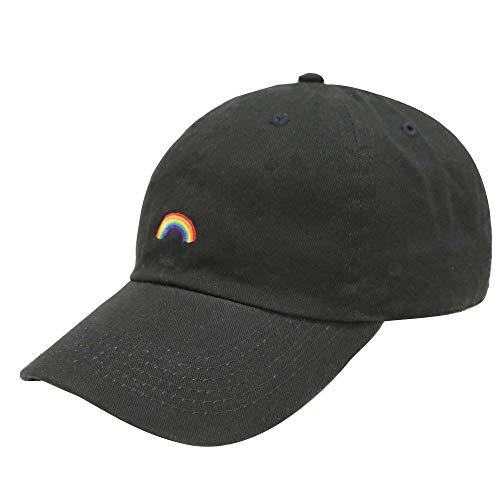 (Kokkn BTS Baseball Cap K-pop Bangtan Boys Outdoor Iron Ring Snapback Hat Casual Adjustable Dad Hat Hip Hop Hat (Rainbow))