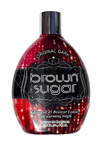 Tan Incorporated - Brown Sugar ORIGINAL DARK Advanced 45 Bronzer with Warming Tingle Tanning Lotion 13.5 -