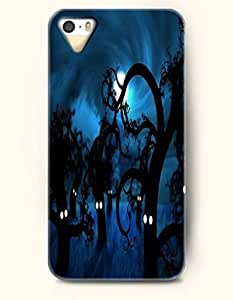 SevenArc iPhone 5 5s Case - Halloween 31 October Black Trees With Eyes In Blue Night