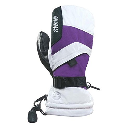 Swany X-Over Jr. Mitt Youth White/Purple M by SWANY