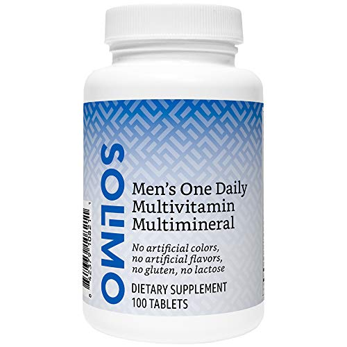 Amazon Brand - Solimo Men's One Daily Multivitamin Multimineral, 100 Tablets, Three Month Supply (Packaging may vary)