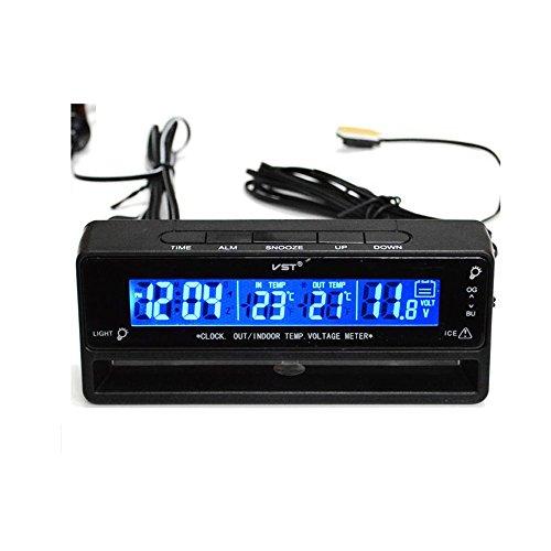 Flameer Digital Clock Temperature Meter Thermometer Car Volt Measuring TS-7010V by Flameer (Image #6)