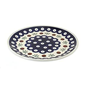 Polish Pottery Boleslawiec Plate, Side Plate, 16cm, in RED DOT pattern