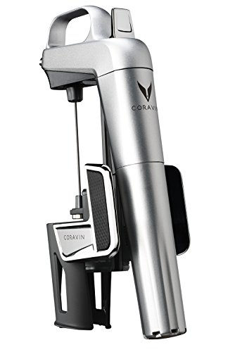 (Coravin Model Two Elite Wine Preservation System and Bottle Opener, Includes 2 Argon Capsules, Silver)