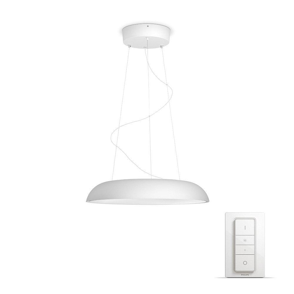 Philips Hue White ambiance Amaze - Lámpara colgante blanca LED con mando, Iluminación inteligente, compatible con Amazon Alexa, Apple HomeKit y Google ...