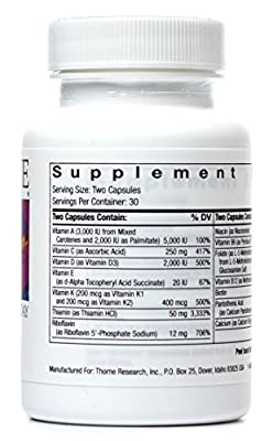 Thorne Research - Basic Nutrients 2 / Day - Complete Multivitamin/Mineral Formula - NSF Certified for Sport - 60 Capsules