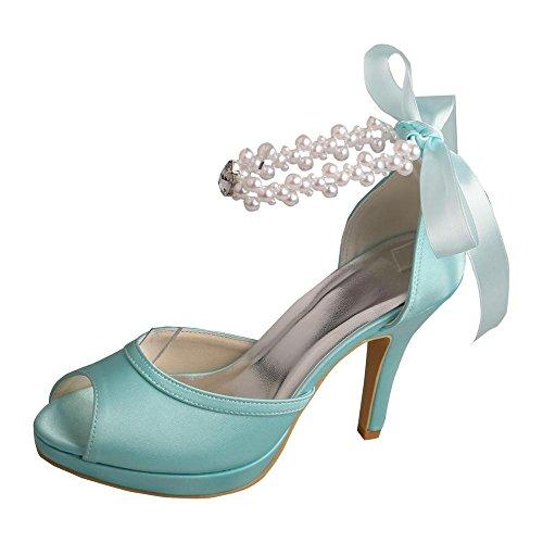d23d448f77d new Wedopus MW775 Womens Ribbon Pearl Strap Satin High Heel Peep Toe ...
