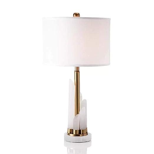 Lámpara de Mesita de Noche Moderna Blanco Lampara de Mesa Salon ...