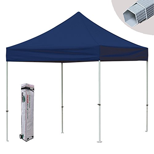 New Eurmax Premium Canopy Pop up Commercial Outdoor Party Tent Instant Folding Gazebo W / Rolling Bag (Navy Blue, 10 X 10)