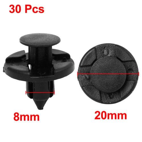 etbotu 30/PCS 8/mm Auto Kunststoff Nieten Verschluss Bumper Fender Push Clips f/ür Nissan