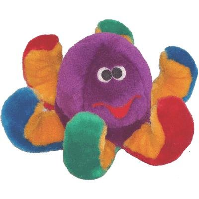 Patchwork Pet Octopus 15-Inch Multicolor Squeak Toy for Dogs, My Pet Supplies