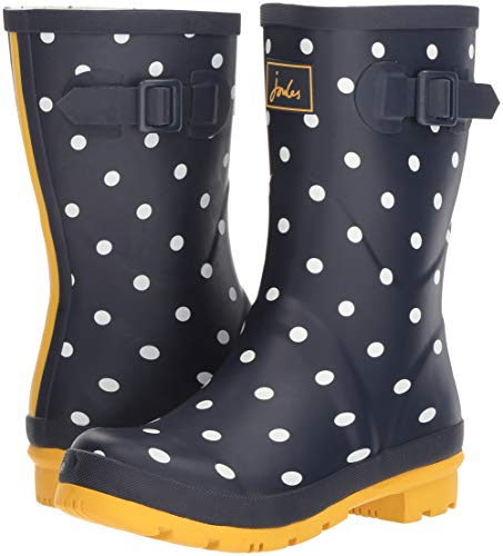 Image of the Joules Women's Molly Welly Rain Boot, French Navy Spot, 6 Medium UK (8 US)