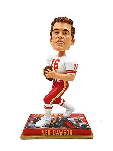 Forever Collectibles NFL Kansas City Chiefs Mens Kansas City Chiefs Bobblehead - 8 inch - Retired Player - Len Dawson #16 - Special Order, Team Colors One Size by Forever Collectibles