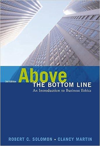 Book Above the Bottom Line by Solomon Robert C. Martin Clancy (2003-05-29)