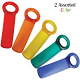 Brix JarKey Jar Opener, The Original JarPop! - Assorted Colors (2 Pack)