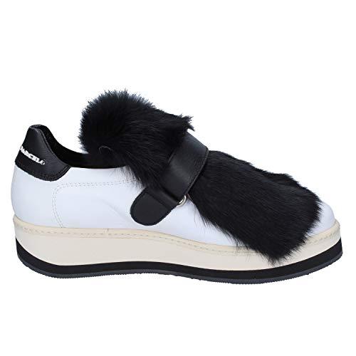 Blanco Manuel Barcelo Mujer Sneakers Cuero TFUFwqxR