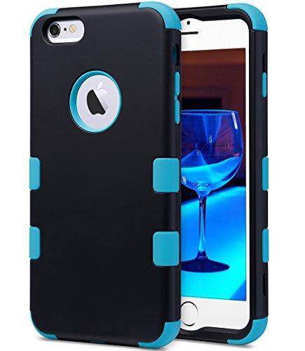 Shockproof Hybrid Case for Apple iPhone 6 Plus (Black/Blue) - 9