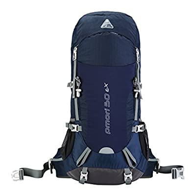 Kimlee Water Repellent Large Capacity 50L Internal Frame Hiking Backpack For Backpacker