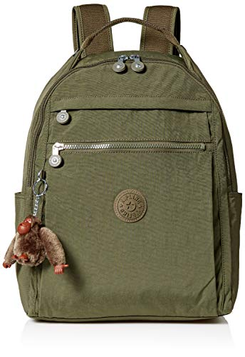Kipling Women's Micah Medium Laptop Backpack, Adjustable, Padded Backpack Straps, Zip Closure, jaded green