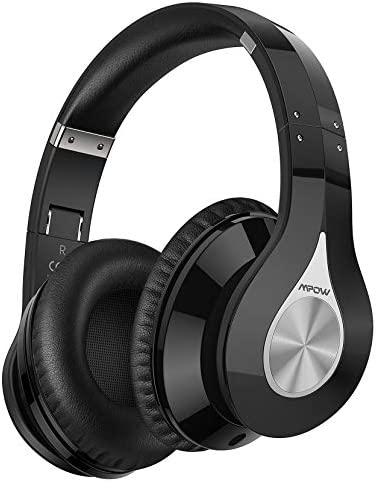 Mpow 100 Hours Bluetooth Headphones, 059+ Bluetooth 5.0 Headphones, Wireless Over Ear Bluetooth Headphones with Built-in Mic, Deep Bass, Hi-Fi Sound, Memory Foam Ear Cups, for Travel, Home Office