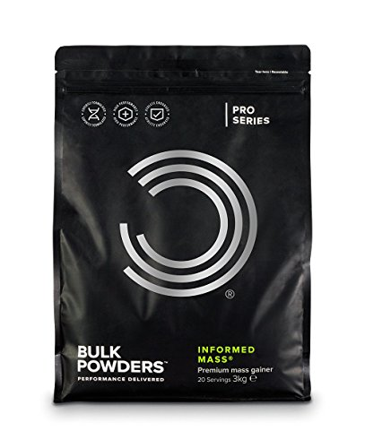 BULK POWDERS Informed Mass Weight Gain Powder, High Calorie Shake with Oats and Whey Protein, Double Chocolate, 3 kg