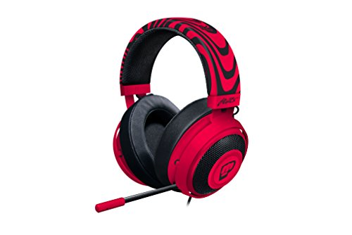 Razer Pewdiepie Kraken Pro V2   Analog Gaming Headset For Pc  Xbox One And Playstation 4   Oval Ear Cushions   Neon Red