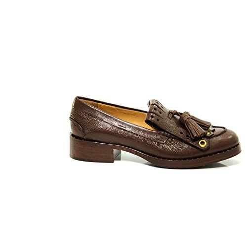 Woman Loafer Mocassino Scarpa Shoe Bruciato B9696 Car Marrone Donna Frangia Nappine 8qHzEEw