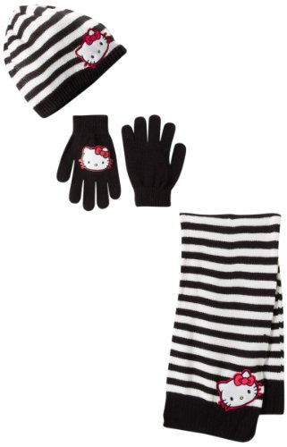 Berkshire Girls 7-16 Hello Kitty 3-Piece-Scarf with Hat and Glove Set
