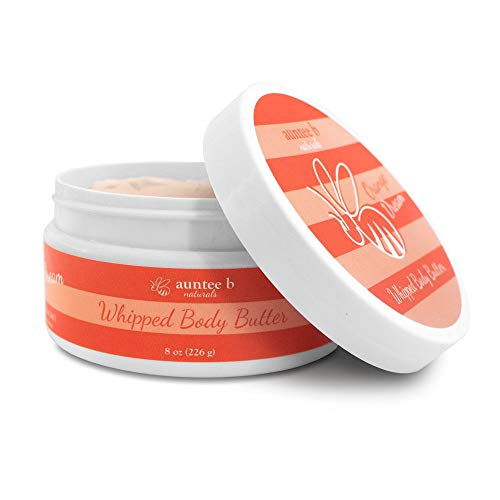 Skin Care Mango Body Butter - All Natural Whipped Body Butter (Orange Dream) by Auntee B Naturals   Made with Shea Butter, Mango Butter, Coconut Oil, Kokum Butter   Nourishes and Moisturizes Dry Skin   Vegan and Cruelty-Free