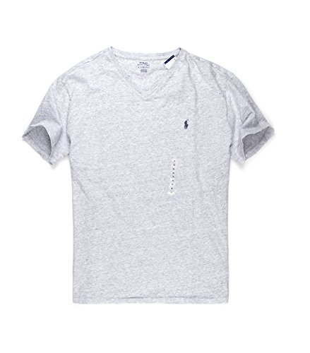 Polo Ralph Lauren Men's Classic Fit V-Neck T-Shirt (Lawrence Grey, - Lauren Outlet Ralph Online