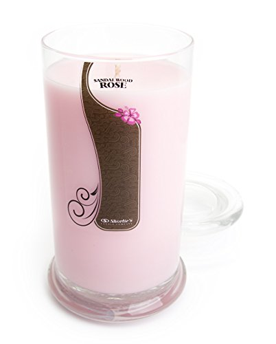 (Sandalwood Rose Candle - Large Pink 16.5 Oz. Highly Scented Jar Candle - Made with Natural Oils - Incense & Earth Collection)
