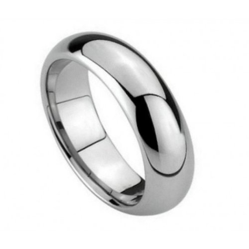 Tungsten Carbide Polished Shiny Domed Ring 5.5mm Wedding Band Ring 12 Size