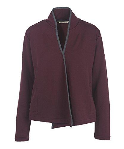 (Woolrich Women's Bur Basin Merino Wool Blend Cardigan, WINE. (Purple), Size M)