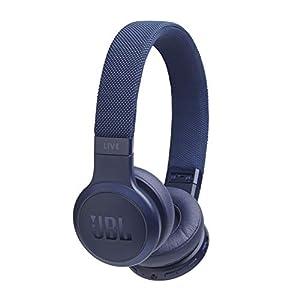 JBL Live 400BT by Harman Wireless On-Ear Voice Enabled Headphones with Alexa (Blue)