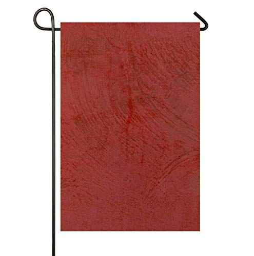 Tuscan Red Venetian Plaster Weatherproof Polyester Garden Flag 12