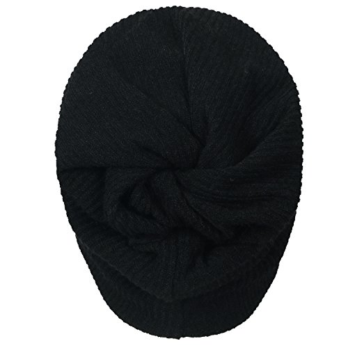 Skull negro Snood Ribbed Neck Beanie ililily Knit Hat Cap p8Ix0q